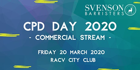 Svenson Barristers Commercial CPD Day 2020 tickets