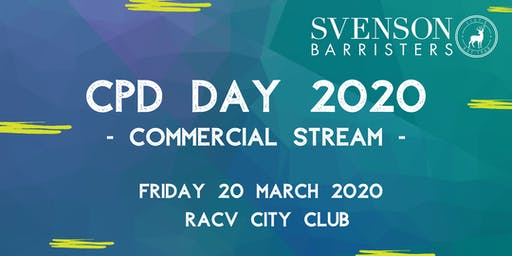 Svenson Barristers Commercial CPD Day 2020