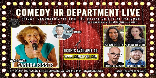 Comedy HR Department LIVE! Concord, CA - December