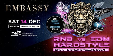 Embassy RNB vs EDM vs HARDSTYLE DEC 14 tickets
