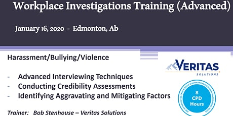 Workplace Investigations Training (Advanced) tickets