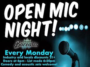 Open Mic Monday tickets