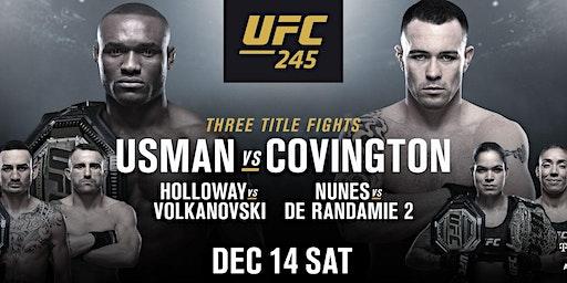 UFC 245 - KAMARU USMAN v. COLBY COVINGTON