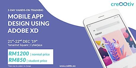 Mobile App Design Using Adobe XD tickets