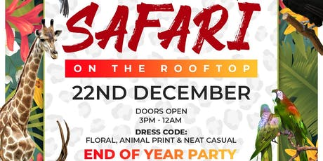 Safari On The Rooftop | End Of Year Party tickets