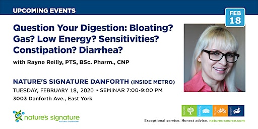 Question Your Digestion:  Gas/Bloating? Fatigue? Sensitivities? Gut issues?