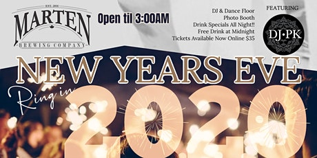 NYE 2020 @ Marten Brew Pub tickets