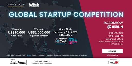 Global Startup Competition - Berlin roadshow - AngelHub & WHub