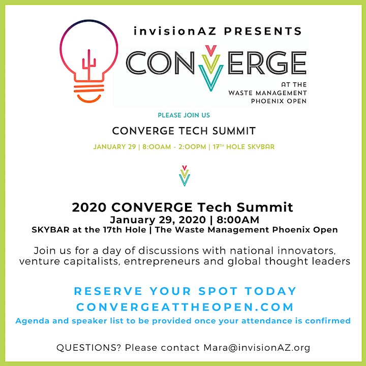 CONVERGE Tech Summit at The Waste Management Phoenix Open image