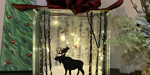 Winter Moose Light