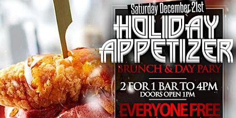 Sat. 12/21: Holiday Appetizer Bottomless Brunch & Day Party at Spyce NYC. tickets