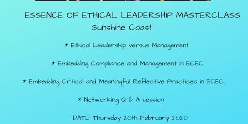 Essence of Ethical Leadership Masterclass Sunshine Coast