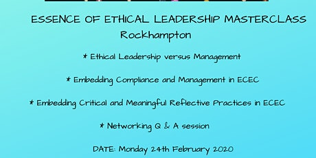 Essence of Ethical Leadership Masterclass Rockhampton tickets
