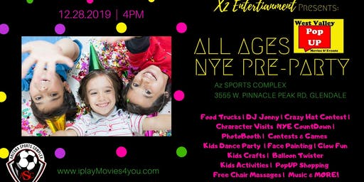 All Ages New Year's Eve Pre-Party - Sat 12/28