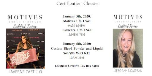 Makeup & Skincare Certification Classes Phoenix AZ