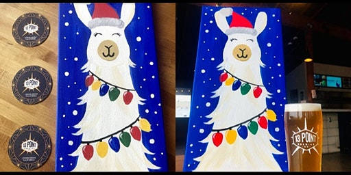 Holiday Paint N'Sip event!  Ready for a Fa La la Llama good time!?