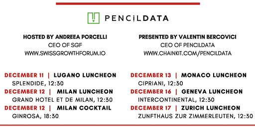 Swiss Growth Forum Luncheon with PencilDATA in Geneva