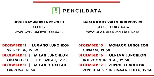Swiss Growth Forum Luncheon with PencilDATA in Lugano