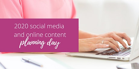 2020 Social media and online content planning day tickets