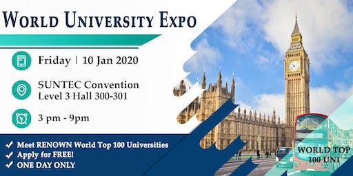 The Renown World Uni Expo @ Suntec Fri 10 Jan Level 3 Hall 300-301