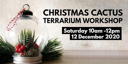 Christmas Cactus Terrarium workshop