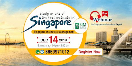Attend Free Webinar on Higher Education in Singapore - 14 Dec'19 tickets