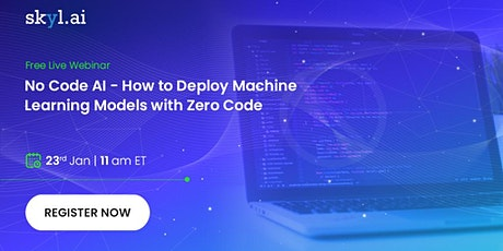 No Code AI - How to Deploy Machine Learning Models with Zero Code tickets