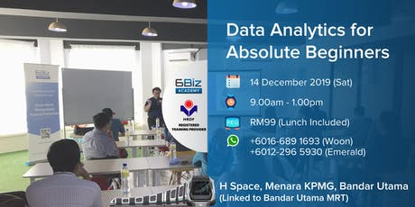 Data Analytics for Absolute Beginners tickets