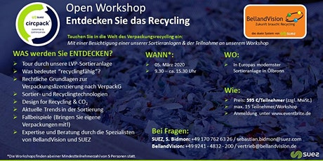 BellandVision & SUEZ.circpack® - Open Workshop Recycling Tickets