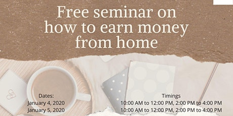 Free Seminar on work from home opportunity tickets