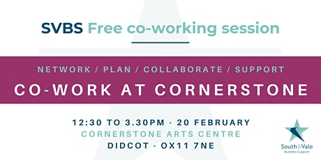 Co-working at Cornerstone tickets