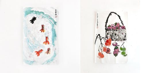 Chinese Painting on Calendar