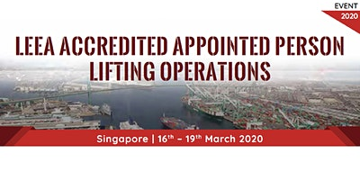 LEEA Accredited Appointed Person Lifting Operations