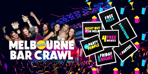 Melbourne Bar Crawl - Friday Night (Includes Full Moon Party Entry)