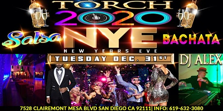 NYE 2020 MEGA SALSA & BACHATA Countdown | TORCH San Diego boletos