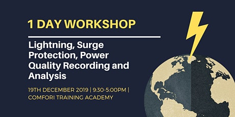 Workshop: Lightning, Surge Protection, PQ Recording and Analysis tickets