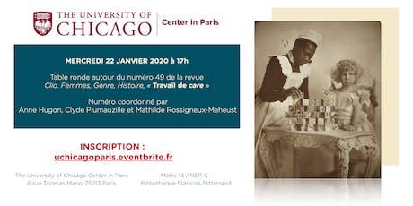 """Table ronde Clio. Femmes, Genre, Histoire n°49 """"Travail de Care"""" tickets"""