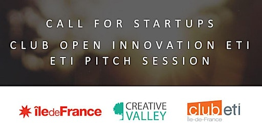 CLUB OPEN INNOVATION ETI - CALL FOR STARTUPS - ETI PITCH SESSION 13/12/2019