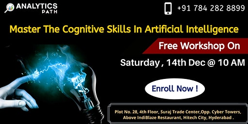 Enroll For Artificial Intelligence Free Workshop Session On Saturday 14th