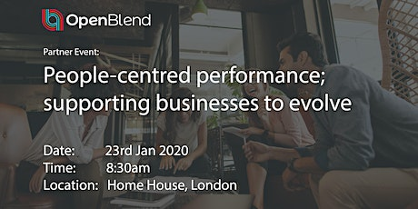 People-centred performance; supporting businesses to evolve tickets