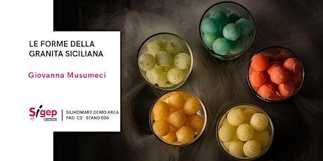 Le forme della granita siciliana biglietti