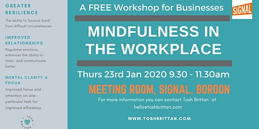 Mindfulness in the Workplace free workshop