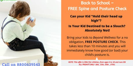 FREE CHILD'S POSTURE AND SPINE CHECK tickets
