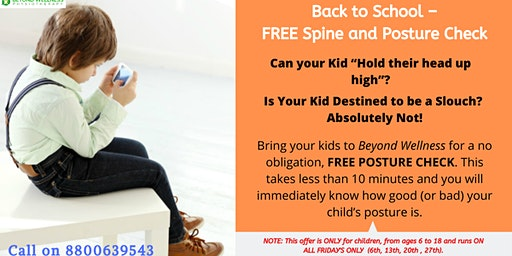 FREE CHILD'S POSTURE AND SPINE CHECK