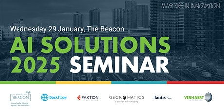 Seminar  'AI SOLUTIONS 2025: logistics & mobility for smart cities' tickets
