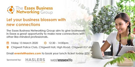 The Essex Business Networking Group - March 2020 tickets