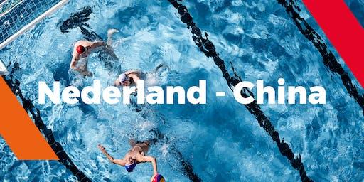 Waterpolo interland Nederland - China (dames)