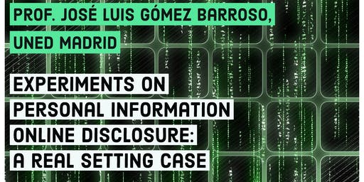 "NINSO seminar - ""Experiments on personal information online disclosure"""