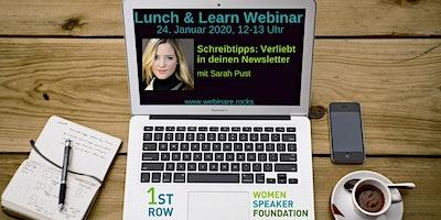 """Webinar """"Schreibtipps: Verliebt in deinen Newsletter"""" mit Sarah Pust"""