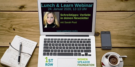 """Webinar """"Schreibtipps: Verliebt in deinen Newsletter"""" mit Sarah Pust Tickets"""
